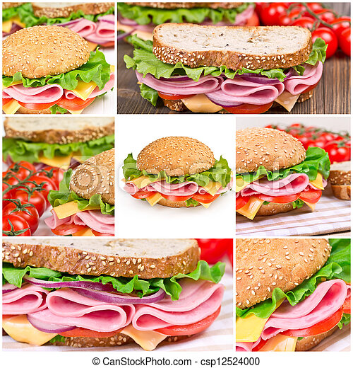 Collage of sandwiches - csp12524000
