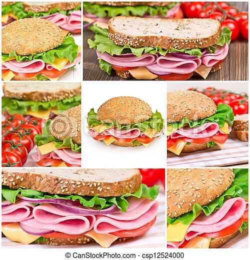 Collage of sandwiches - csp12524000