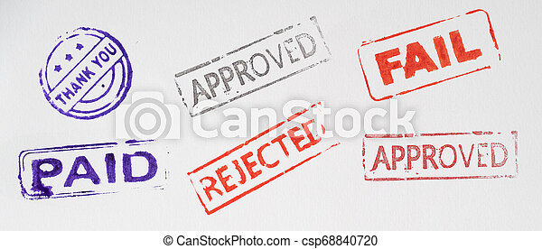 collage of stamp on paper - csp68840720