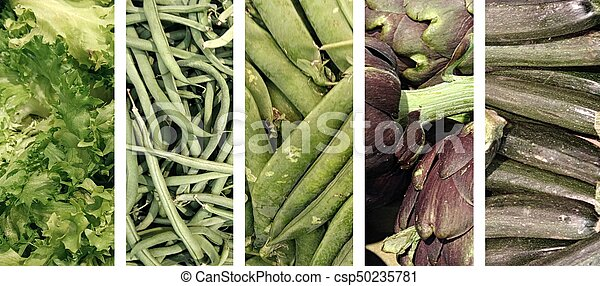 collage of vegetables - csp50235781