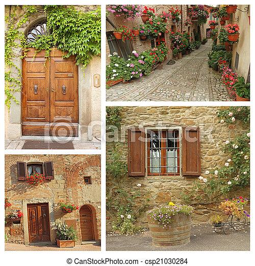 collage, paese, stile di vita, italiano - csp21030284