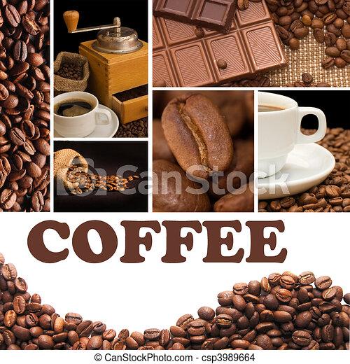 collage, parfumé, café - csp3989664