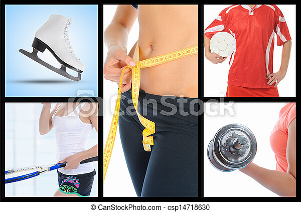 Collage people in sport - csp14718630