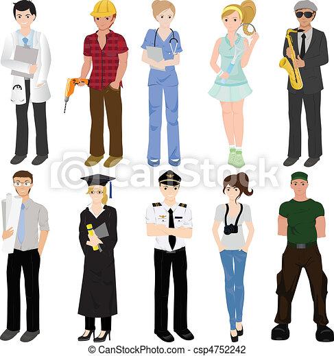 collage, profesjonalny, pracownicy - csp4752242