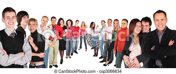 collage, rangées, deux personnes - csp3066634