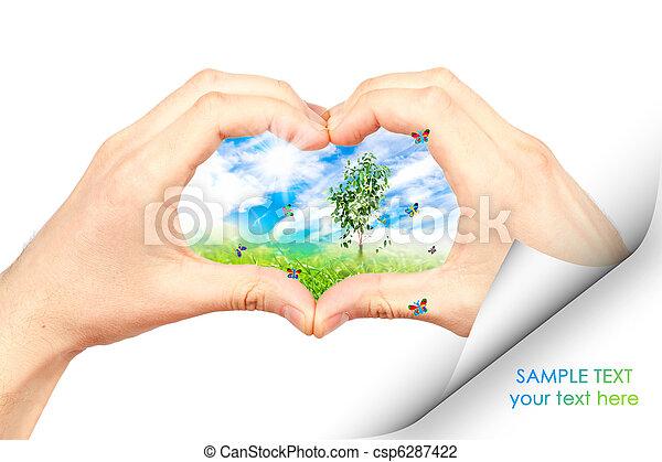 El símbolo del medio ambiente. Collage. - csp6287422