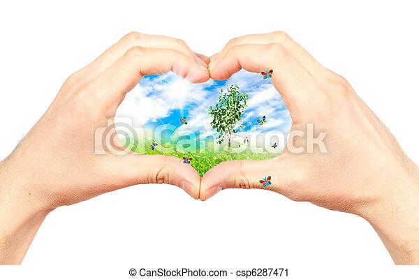 El símbolo del medio ambiente. Collage. - csp6287471