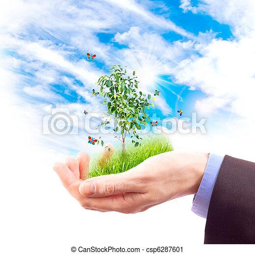 El símbolo del medio ambiente. Collage. - csp6287601