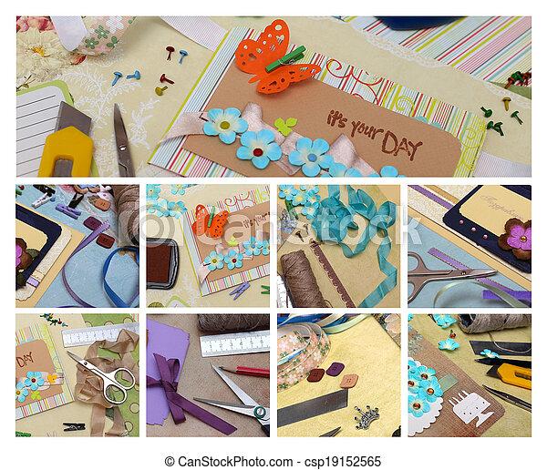 collage scrapbook - csp19152565