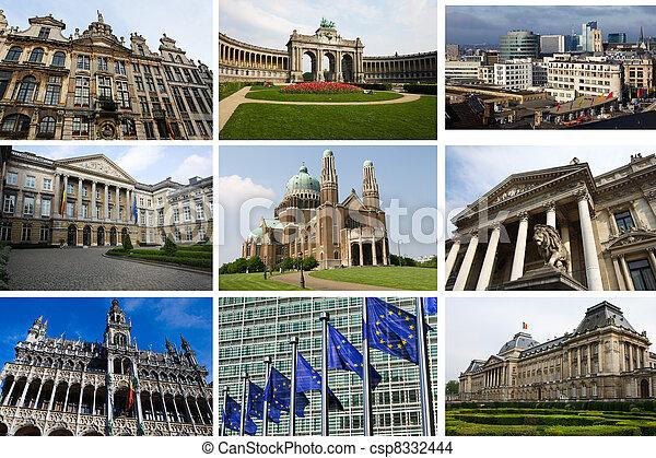 collage, señales, bruselas - csp8332444