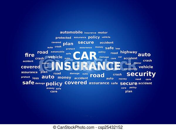 Collage de seguro de coche - csp25432152
