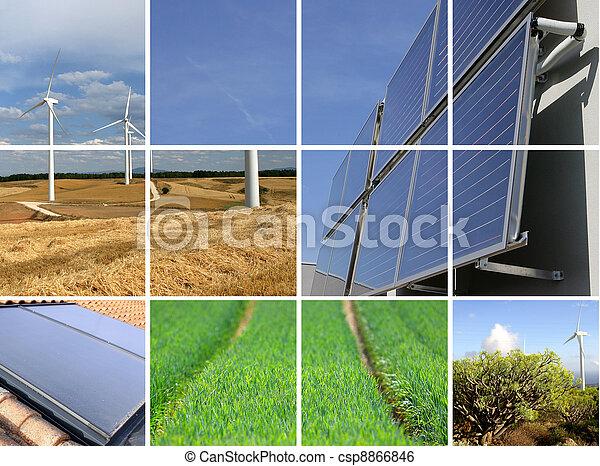 collage, sostenibile, energia - csp8866846
