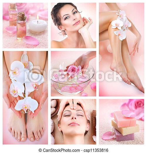 collage, spa - csp11353816