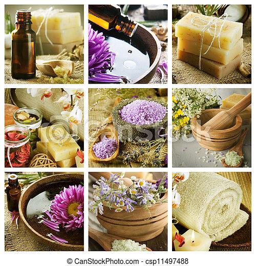 collage, spa - csp11497488