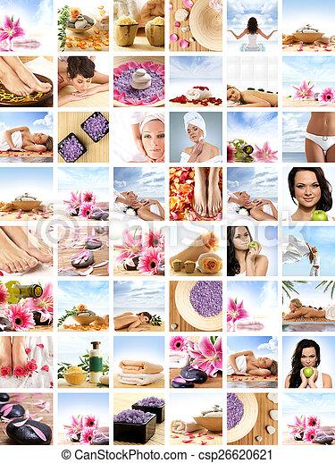 collage, spa - csp26620621