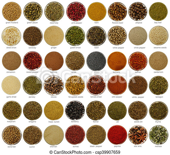 collage  spices - csp39907659