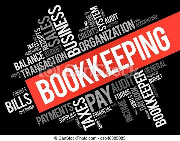 Un collage de palabras de contabilidad - csp46385085