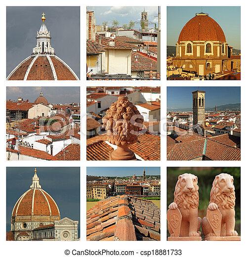 Terracotta de Florencia collage - csp18881733