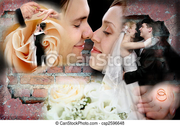 collage, trouwfeest - csp2596648