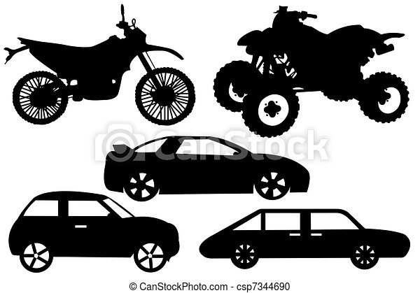 Collage With Different Automobiles  - csp7344690