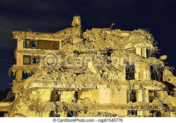 Collapsed building - csp61545776