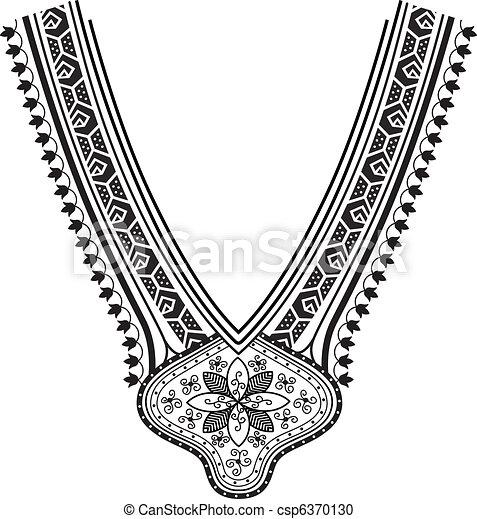 Clip art vectorial de collar diseo de la manera  Necklace