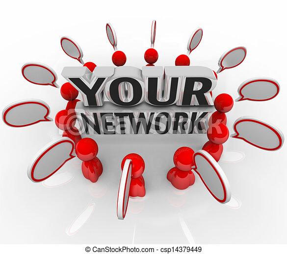 colleagues, hálózat, emberek társalgás, karika, barátok, -e - csp14379449