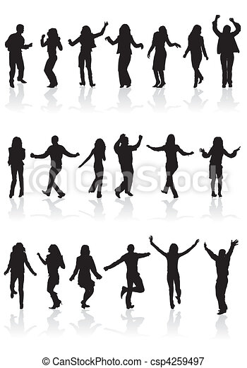 Collect dancing silhouettes - csp4259497
