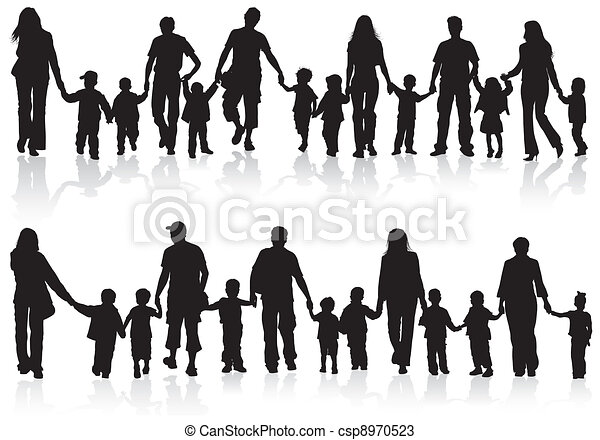 collect family silhouettes large set of silhouettes of parents with
