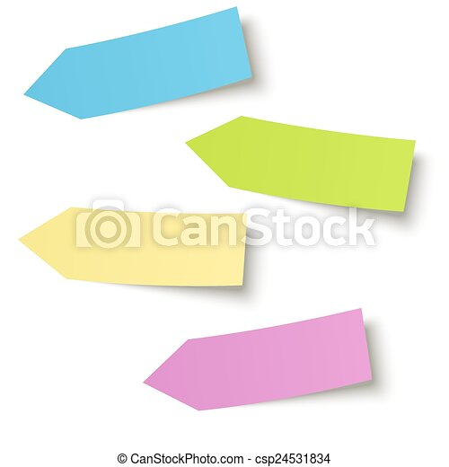 Collection - colorful sticky notes arrow - csp24531834