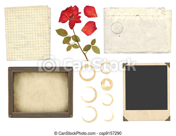 Collection elements for scrapbooking - csp9157290
