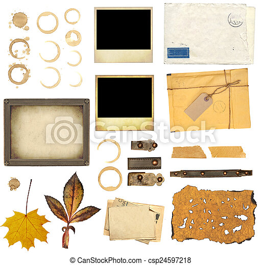 Collection elements for scrapbooking - csp24597218