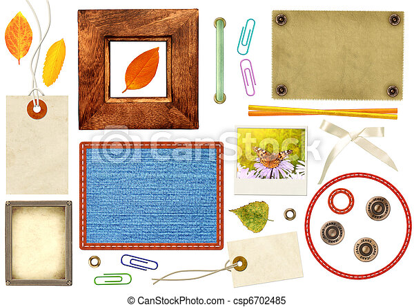 Collection elements for scrapbooking - csp6702485