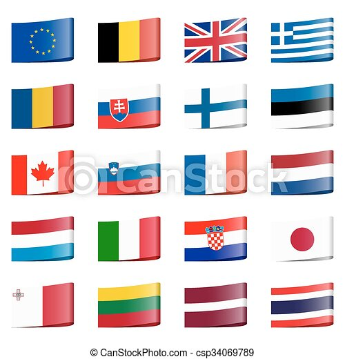 collection flags national countries - csp34069789