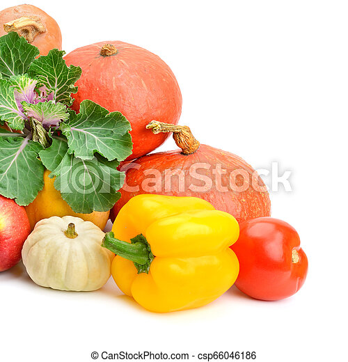 Collection fruit and vegetables - csp66046186