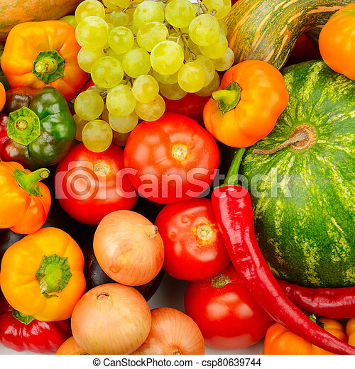 Collection fruit and vegetables - csp80639744