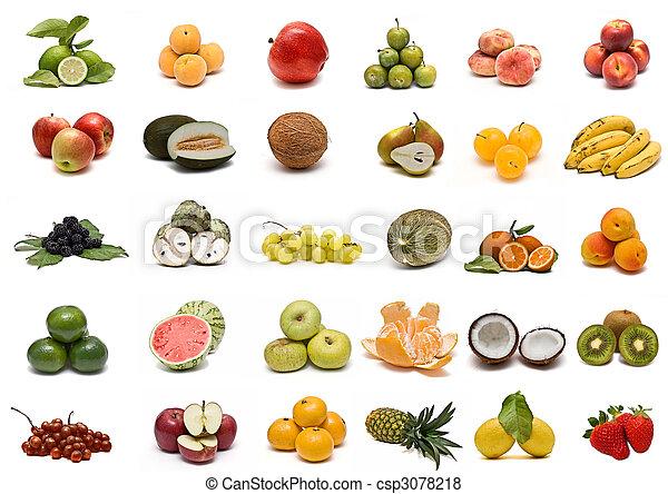 Colección de frutas. - csp3078218