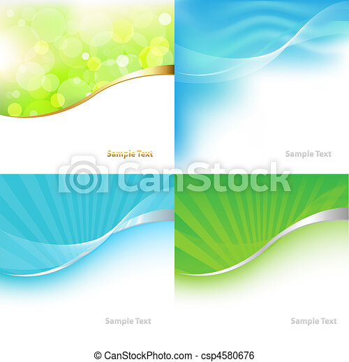 Collection Green And Blue Tones Background - csp4580676