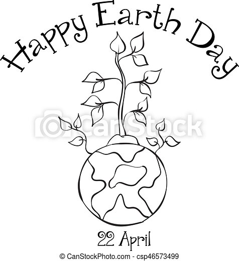 Collection Happy Earth Day design - csp46573499