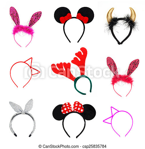 collection headband on white background - csp25835784