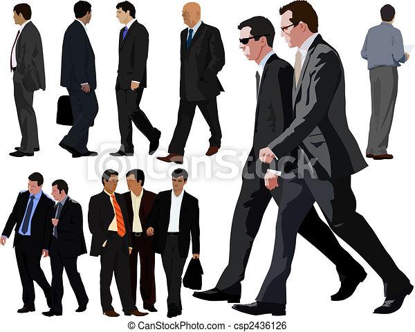 collection, homme affaires - csp2436126