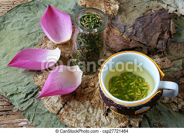 Collection Lotus Flower Seed Tea Healthy Food Collection Of
