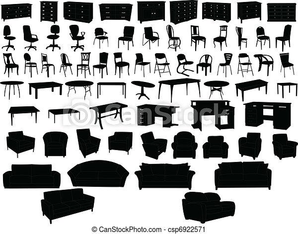 collection, meubles - csp6922571