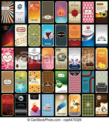 Collection of 40 business cards vector illustration of 40 clip collection of 40 business cards vector reheart Gallery