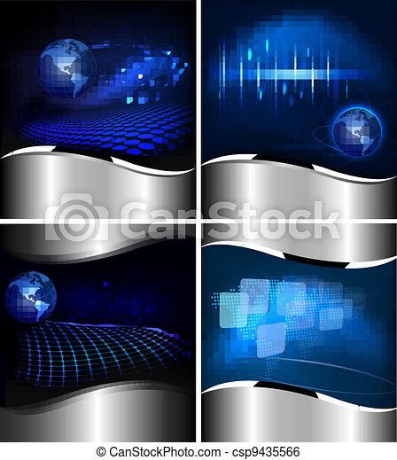 Collection of abstract backgrounds - csp9435566