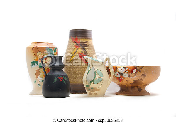 Collection of Antique Pottery - csp50635253