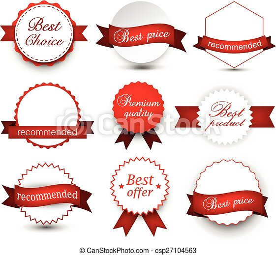 Collection of award badges. - csp27104563