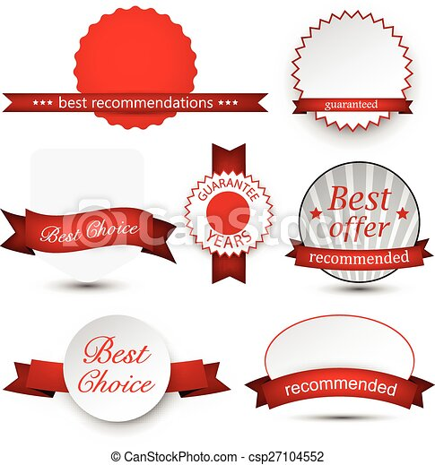 Collection of award badges. - csp27104552