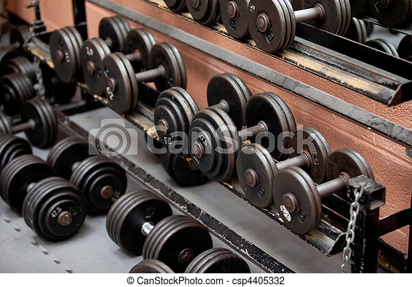 Collection of barbells - csp4405332
