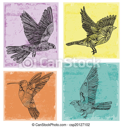 Collection of birds  - csp20127102